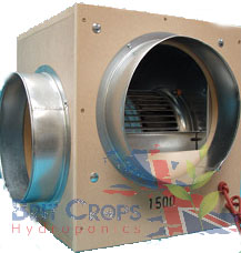 Acoustic Box Fan 1500m3h 250mm 10""