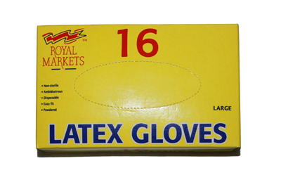16 Latex Gloves
