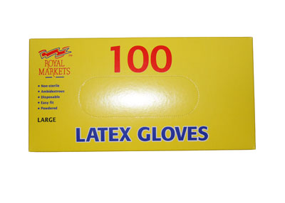 100 Latex Gloves