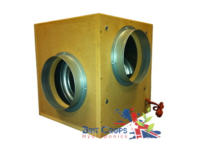 Acoustic Box Fan 1000m3h 200mm 8""